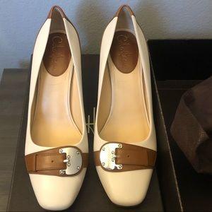 Cole Haan Nike Air Beige & Brown heels size 9
